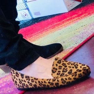 Nature B Leopard Textured Pointed Comfort Flat